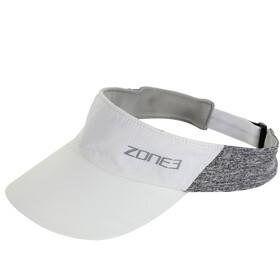 Zone3 Lightweight Daszek wyścigowy, white/charcoal marl/relective silver